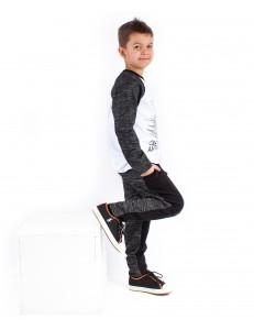 """Комплект для мальчиков темно-серый (брюки+джемпер) """"Электрика"""""""